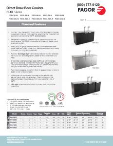 Fagor Draft Kegerator Refrigeration Product Catalog