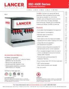 Lancer Fountain Dispenser