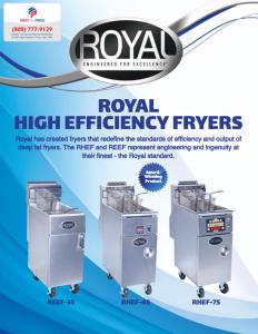 Royal High Efficiency Fryers