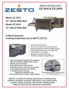 Zesto Conveyor Ovens